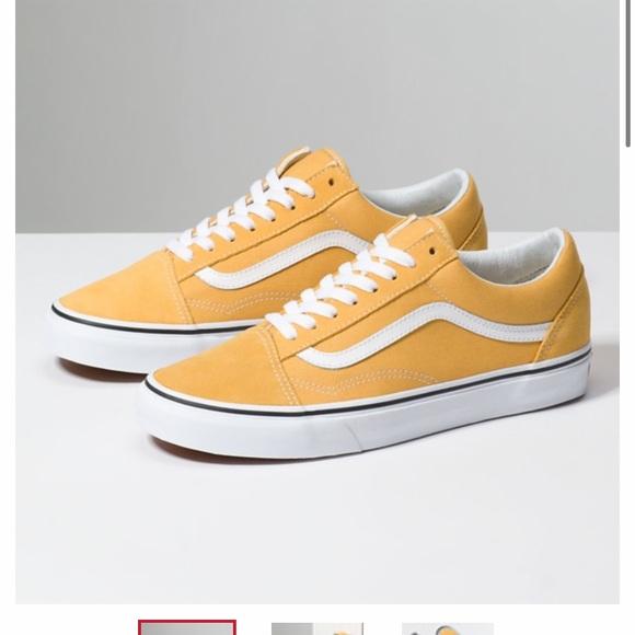 Mustard Yellow Old Skool Vans